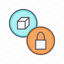 access, block, lock, product, purchase, secure