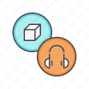 accessory, device, electronics, headphones, headset, music, product icon