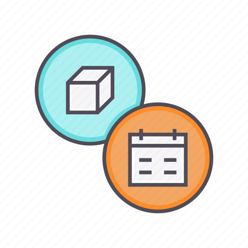 deadline, delivery, event, package, product, schedule icon