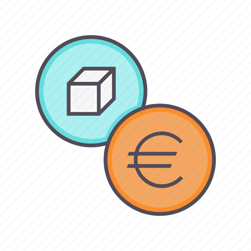 euro, fiancial, listing, package, price, product, sale icon