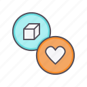 bookmark, favorite, follow, like, love, package, product icon