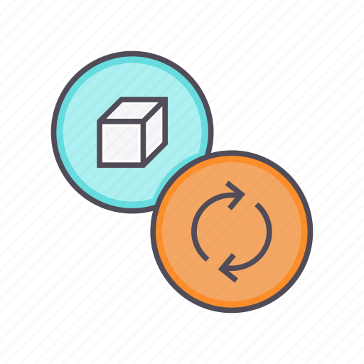package, product, recycle, renewable, sync, update icon