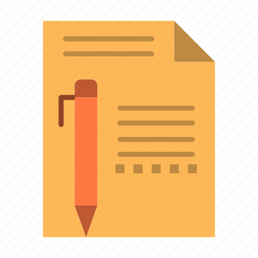 document, edit, page, paper, pencil, write icon