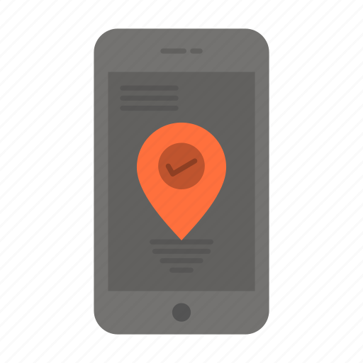 Location, navigation, pointer, smartphone icon - Download on Iconfinder