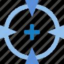 business, goal, improvement, self, sniper, target icon