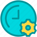 business, gear, improvement, management, self, time icon