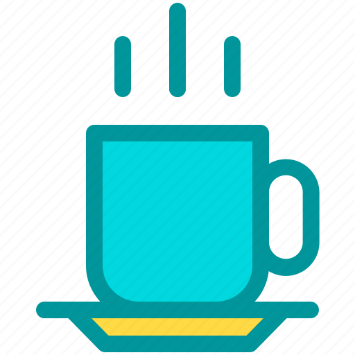coffee, cup, drink, hot, morning icon