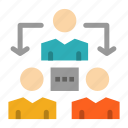 communication, connection, meeting, office icon