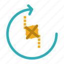 joint, puzzle, recycle, repeat icon
