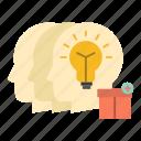 idea, share, staff, transfer icon