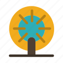 boat, ship, wheel icon