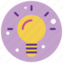 bulb, idea, light, light bulb, productivity, shine icon