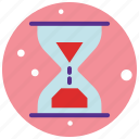 bottle, clock, glass, sand, sand clock, sand time icon
