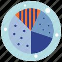 analytics, chart, graph, pie chart, pie charts, pie graph icon