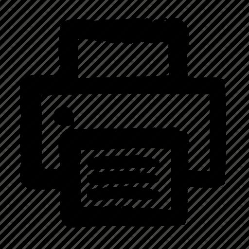 efficiency, office, optimization, performance, print, productivity icon
