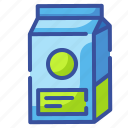 beverage, box, carton, drink, package, paper icon