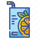 beverage, box, container, drink, fruit, juice, package icon