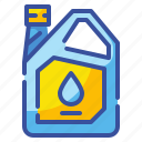 diesel, gallon, gas, gasoline, industry, oil, package icon