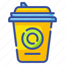 beverage, coffee, cup, drink, hot, package, paper icon