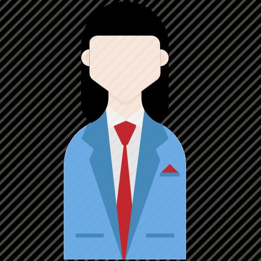 businessman, employee, female, office worker, profession icon