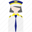 female, pilot, profession