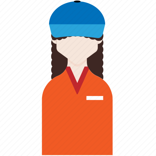 female, manager, profession, salesperson, seller icon