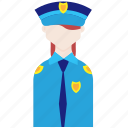 cop, police, policeman, profession, woman