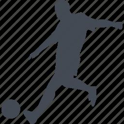 ball, footballer, profession, sport icon