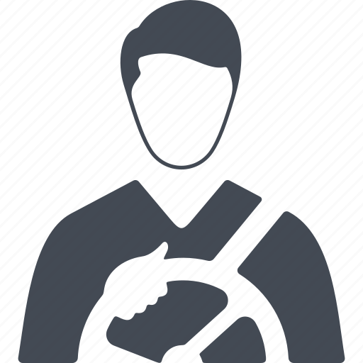 driver, job, man, profession, steering wheel icon