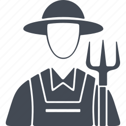 farmers, job, man, pitchfork, profession icon