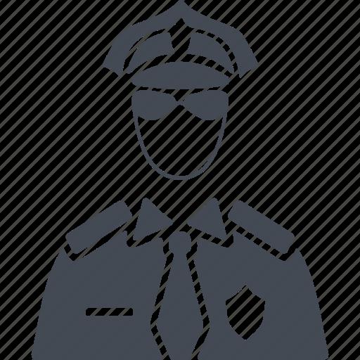 job, man, policeman, profession, uniform icon