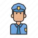 job, man, police, profession, security icon