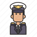 captain, job, man, pilot, profession icon
