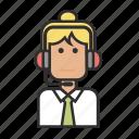 customer, girl, operator, profession, service, woman icon