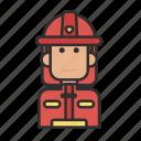 firefighter, job, man, profession icon