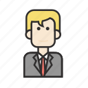 businessman, job, man, office, profession, worker icon