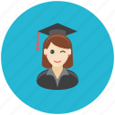 avatar, education, occupation, profile, school, student, university icon