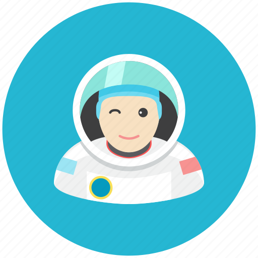astronaut, avatar, fly, occupation, profile, space icon