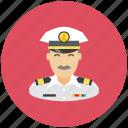 profile, avatar, sea, captain, anchor, occupation
