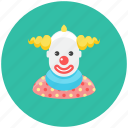 avatar, circus, clown, occupation, performers, profile, smile icon