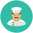 avatar, cook, food, kitchen, kitchener, profile, restaurant icon