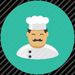 avatar, cook, food, kitchen, kitchener, profile, restaurant icon