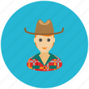 avatar, country, cowboy, farmer, occupation, profile icon