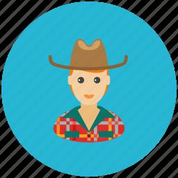 avatar, country, cowboy, farmer, occupation, profile icon