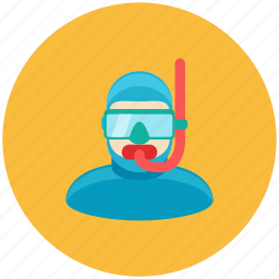 avatar, diver, lifeguard, occupation, profile, water icon