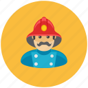 avatar, firefighter, lifeguard, man, occupation, profile icon