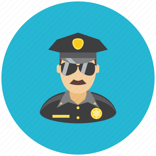 avatar, crime, law, police, profile, protection, secure icon
