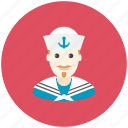 anchor, avatar, occupation, profile, sailor, sea, ship icon