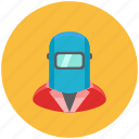 avatar, fire, fix, occupation, profile, repair, welder icon