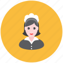 avatar, cleaning, maid, occupation, profile, servant, woman icon